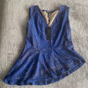 Bcbg blue lace top